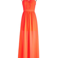 ModCloth Long Halter Maxi Radiant Resort Dress