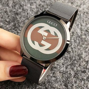 GUCCI Popular Women Men Movement Quartz Watches Wrist Watch Black