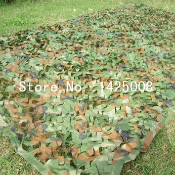 Hunting Camping Camo Net  2X3m Woodland Leaves Camouflage Net  Jungle Leaves Camo Net For   Military Car Shade Cloths  Cover