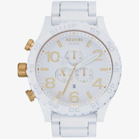 Nixon The 51-30 Chrono Watch All White/Gold One Size For Men 25598716701