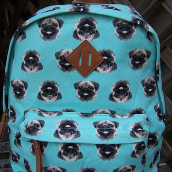 MADDEN GIRL Aqua Dog Backpack Book Bag RARE! NEW