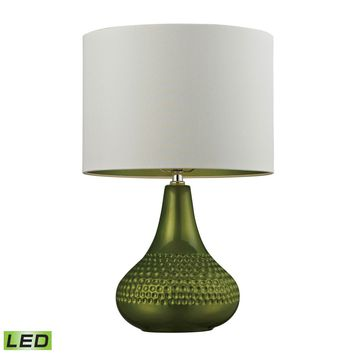 Ceramic LED Table Lamp in Bright Green Bright Green