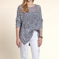 Open Stitch Long Length Sweater