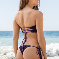 ACACIA SWIMWEAR - Polihale Crochet Bottom | Blackberry