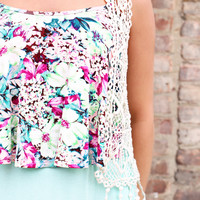 May Flowers Crop Top