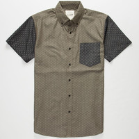 Lira Dotties Mens Shirt Green  In Sizes