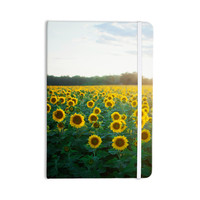 "Chelsea Victoria ""Sunflower Fields"" Floral Photography Everything Notebook"