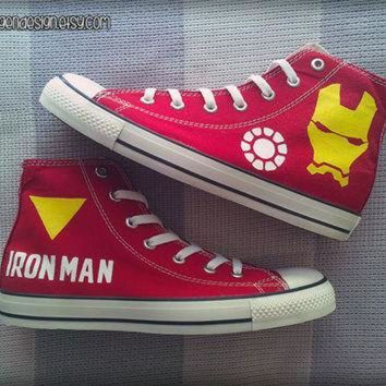 VONR3I Iron Man Custom Converse / Painted Shoes / Marvel