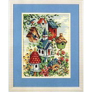 Top Quality Lovely Counted Cross Stitch Kit Bird Nest Home Birds dim 07875