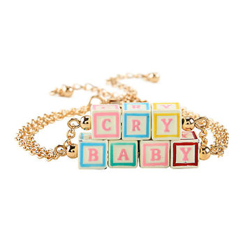Melanie Martinez Cry Baby Blocks Bracelet Set