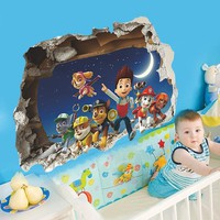 Paw Patrol Snow Slide Background Removable Wall Stickers