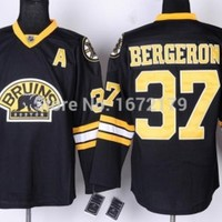 CHEAP ICE HOCKEY BOSTON BRUINS #37 PATRICE BERGERON BLACK THIRD ALTERNATE PRIMIER STITCHED JERSEY FREE SHIPPING-in Sports Jerseys from Sports & Entertainment on Aliexpress.com | Alibaba Group