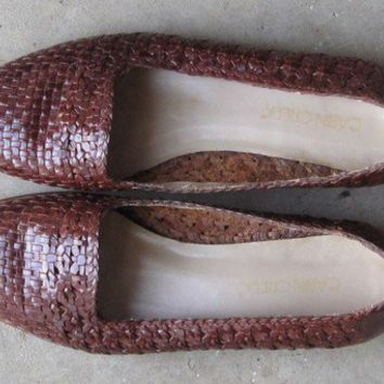 vintage huarache leather sandals / vintage woven by shantyirish