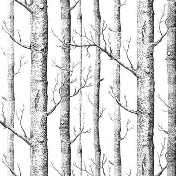 Textured Tree Forest Woods Non woven Wall Paper Wallpaper Covering Roll Room Restaraunt Decor DIY Art