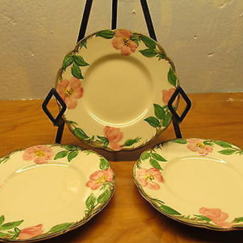VINTAGE FRANCISCAN BREAD AND BUTTER PLATES SET OF THREE (3)