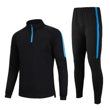 Sports Sets 2018 Long - Sleeved Long Sleeve Soccer Tracksuit  Men 's Jogging Runing Suits