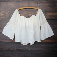 off shoulder blouse | ivory