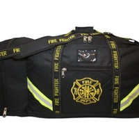 Lightning X Fireman Premium 3XL Firefighter Rescue Step-In Turnout Fire Gear Bag w/ Shoulder Strap & Helmet Pocket