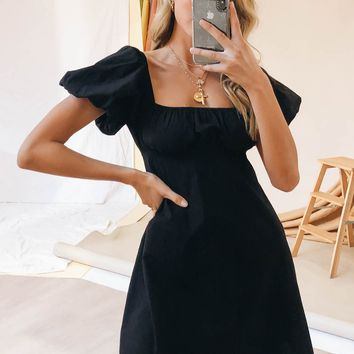 VG Lou Lou Mini Dress // Black