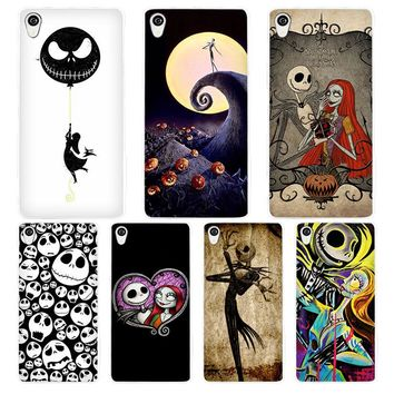 Jack Skellington The Nightmare Before Christmas White Phone Case Cover for Sony Xperia Z1 Z2 Z3 Z4 Z5 M4 Aqua C4 XA XZ E4 E5 L36