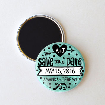 Watercolor save the date magnets, wedding save the date, 2.25 inch magnets, pack of 25