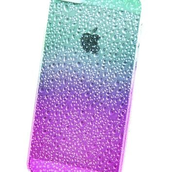 > Case for iPhone 5 - Rain Drops Raindrop Water Ocean Drop Wet Sea Beach
