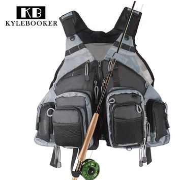 New men's outdoor Adjustable Fly Fishing Vest Fishing Mesh vest Fishing Tackle bag Hunting vest clothes