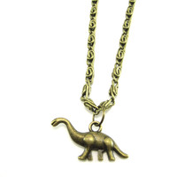 Dinosaur Necklace Brontosaurus Jewelry  Paleontologist Gift   Dino Necklace  Prehistoric Jewelry