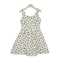 Floral Printed Balloon Dress