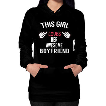 Awesome boyfriend Hoodie (on woman)