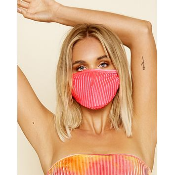 Neon Pink Velvet Surgical Face Mask With Filter