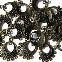 Earring Findings Bronzetone Chandelier Jewellery Components 10 Pcs Hardware Parts Accessories Dangle Pendant Antique Style Boho Jewelry