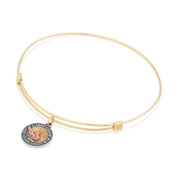 Small LIBERTY COPPER CARRY LIGHT™ 14kt Gold Center Charm Bangle