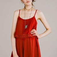 Overlay Jersey Playsuit - Topshop