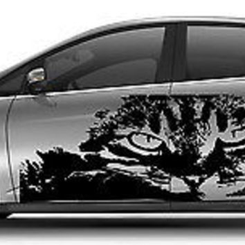 CAR VINYL SIDE GRAPHICS DECAL STICKER Fantastic Design Cat Animal Pet A1447