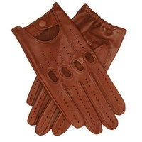 Italian Lambskin Leather Driving Gloves Size 11 Color BRN