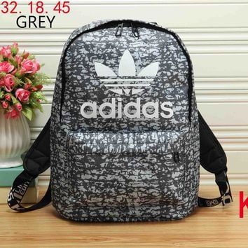 ADIDAS 2018 new unisex wild stylish backpack backpack F-KR-PJ grey