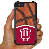 Indiana University - iPhone 5 BruteBoxTM Case - IU Logo and Basketball Design - 2 Part Rubber and Plastic Protective Case