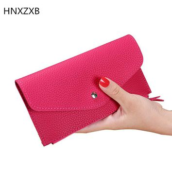 Fashion Women Long Wallet Multiple Card Holder Envelope Purse Ladies Zipper Hasp Money Bag Clip Female Handbag XB013