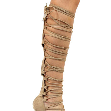 Remi Strappy Heels - Taupe