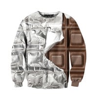 Silver Foil Chocolate Sweatshirt