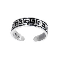 Sterling Silver 925 Sexy Greek Band Toe Ring