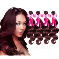 4Bundles/lot 7A  99J# Malaysian Body Wave  Human Hair Extension
