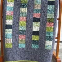 Handmade Baby Quilt with Cozy Chenille Neptune