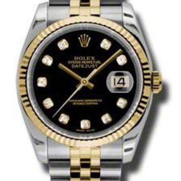 Rolex - Datejust 36mm - Steel and Yellow Gold - Fluted Bezel