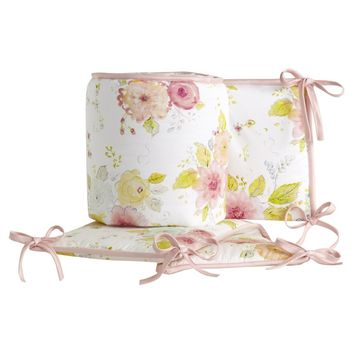 Lambs & Ivy Sweet Spring Pink/White Floral 4-Piece Baby Crib Bumper