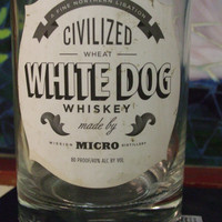 20 Ounce Pure Soy Candle in Reclaimed White Dog Whiskey Liquor Bottle - Your Choice of Scent