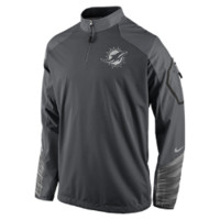 Nike Platinum Fly Rush 2.0 Half-Zip (NFL Dolphins) Men's Training Top