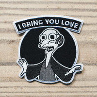 "Mr. Burns ""I Bring You Love"" Glow-In-The-Dark Simpsons Patch"