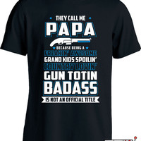 Gun Shirts For Dad Gifts For Gun Lover Fathers Day Firearm T Shirt Dad Gift Ideas Gun Presents Gun Gifts For Dad Gun Humor Mens Tee MD-667